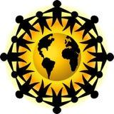 Mensen van het Groepswerk van de Aarde/eps Stock Fotografie