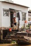 Mensen van Mekong Delta, Cai Be, Vietnam royalty-vrije stock foto