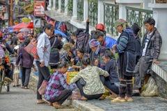 Mensen van Sa-Pa in Vietnam Royalty-vrije Stock Afbeeldingen