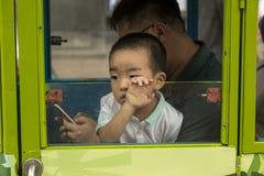Mensen van Shanghai de rijkste stad in China Stock Fotografie