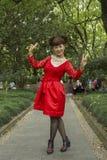 Mensen van Shanghai de rijkste stad in China Royalty-vrije Stock Foto's