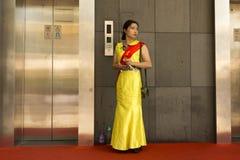 Mensen van Shanghai de rijkste stad in China Stock Afbeeldingen