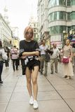 Mensen van Shanghai de rijkste stad in China Royalty-vrije Stock Afbeelding
