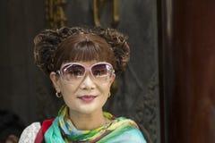 Mensen van Shanghai de rijkste stad in China Royalty-vrije Stock Foto