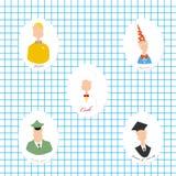 Mensen van verschillende beroepen Stock Afbeelding
