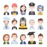 Mensen van verschillende beroepen stock illustratie