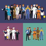 Mensen verschillend beroep Man en vrouwen vectorillustratiereeks vector illustratie