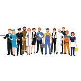Mensen verschillend beroep Man en vrouwen vectorillustratiereeks royalty-vrije illustratie