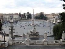 Mensen vierkant Rome Italië royalty-vrije stock afbeelding