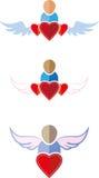 Mensen vlakke symbolen stock illustratie