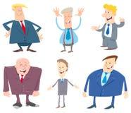 Mensen of zakenliedenbeeldverhaalset van tekens Stock Foto's
