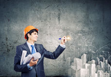 Mensenarchitect Stock Foto