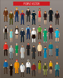 Mensenavatar Pictogrammen Mensen vlakke pictogrammen Vector Stock Foto
