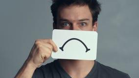 Mensenclose-up die zijn Emoties tonen stock videobeelden