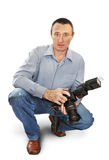 Mensenfotograaf Royalty-vrije Stock Afbeeldingen