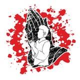 Mensengebed, Lof aan Lord royalty-vrije illustratie