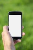 Mensenhanden die tabletpc houden Stock Foto
