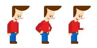 Mensenmascotte (vlakke stijl) vector illustratie