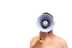 Mensenmegafoon Royalty-vrije Stock Foto