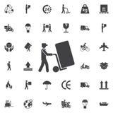 mensenpictogram met karretje Vector illustratie stock illustratie