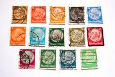 Mensenportret op de postzegel Stock Afbeeldingen