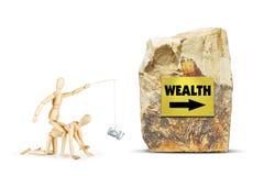 Mensenritten op een andere persoon naar rijkdom Stock Afbeeldingen