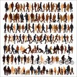 Mensensilhouetten Stock Fotografie