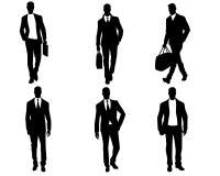 Mensensilhouetten op witte achtergrond royalty-vrije illustratie