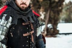 Mensenstrijder in historische kleding stock afbeeldingen