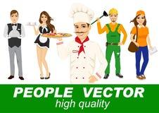 Mensenvector met diverse karakters Royalty-vrije Stock Afbeelding