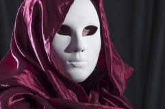 Mensenwhit een Venetiaans Carnaval-masker Stock Foto's