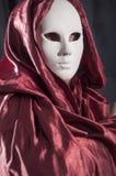Mensenwhit een Venetiaans Carnaval-masker 2 Royalty-vrije Stock Afbeelding