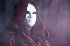 Mensenwhit een Venetiaans Carnaval-masker 4 Royalty-vrije Stock Fotografie