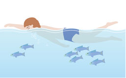 Mensenwho zwemt Stock Fotografie