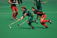 Mensfeldhockeytätigkeit Lizenzfreies Stockbild