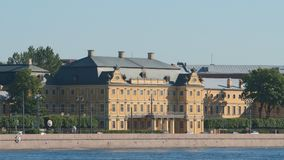 Menshikov Palace and the Neva river in the summer - Close shot Stock Photography