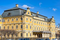 Menshikov palace in Saint-Peterburg, Russia. The Palace of Prince Alexander Menshikov in the arly baroque architectural style, first stone building in the city royalty free stock photo