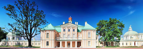 Menshikov Palace in Saint Petersburg, panorama. Stock Images