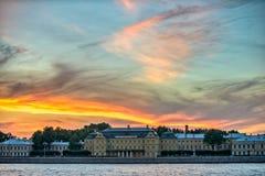 Menshikov slott i St Petersburg Ryssland Royaltyfri Bild