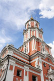 Menshikov Tower. Famous building on Tchistye prudy, also known as Church of Archangel Gabriel, Moscow, Russia Stock Photo