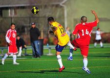 Mensklumpen Fußballdurchlauf Lizenzfreie Stockbilder