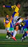 Mensklumpen Fußballstoß Lizenzfreie Stockfotografie