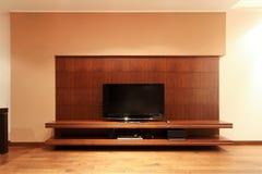 Mensola della TV Fotografie Stock