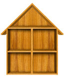 Mensola di legno della casa Fotografie Stock