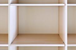 Mensola di legno vuota Fotografie Stock