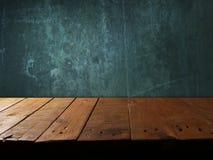 Mensola di legno vuota Fotografia Stock Libera da Diritti