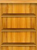 Mensola di libro di legno Immagini Stock Libere da Diritti