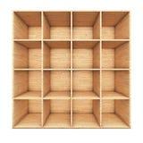 Mensola di libro di legno Fotografie Stock