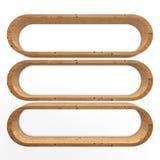 Mensola di libro di legno Fotografia Stock