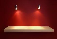 Mensola vuota per l'esposizione. Fotografie Stock Libere da Diritti